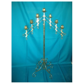 7 Arm Candleabra – Brass