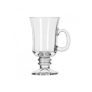Footed Glass Hot Drink Mug