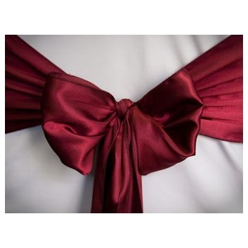 Sash Satin – Burgundy
