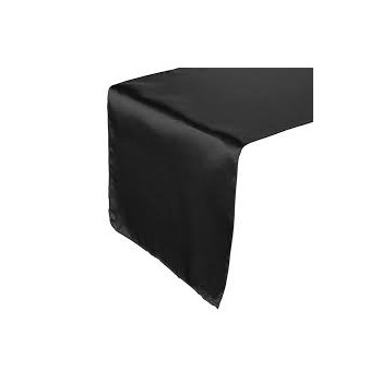 Table Runner Satin – Black