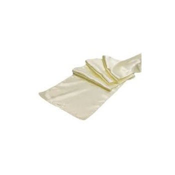 Table Runner Satin – Ivory