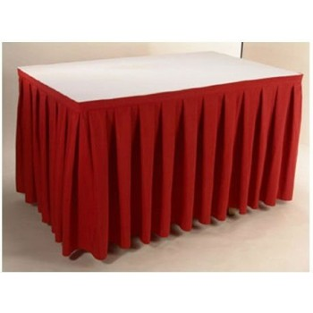 Table Skirting (red) Per ft