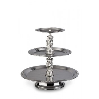 3 Tier Silver Fruit/Pastry...