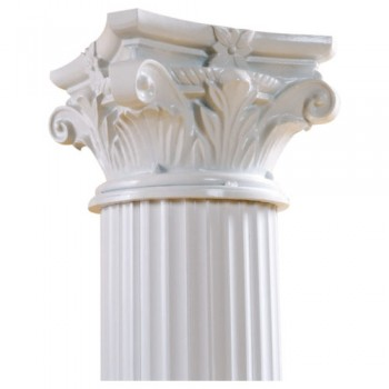 8 ft White Column (Fancy)