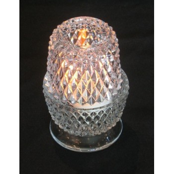 Crystal-Cut Candle Holder