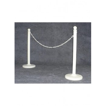One Stanchion Pole w/ White...