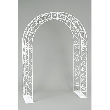 Wrought Iron Arch White