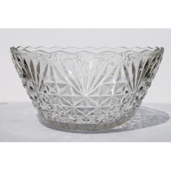 8 Qt. Cut-Glass Punchbowl
