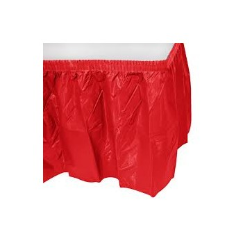 Table Skirting Plastic – Red