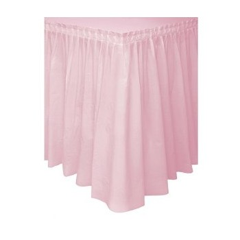 Table Skirting Plastic- Pink