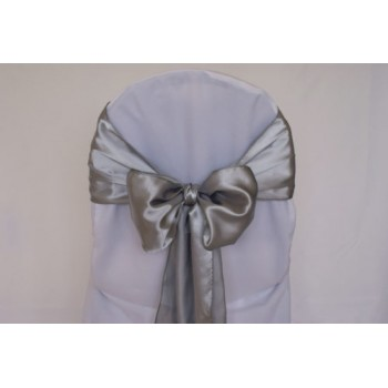 Sash Satin – Silver / Grey