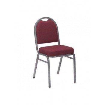 Maroon Stacking Padded Chair