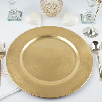 "13"" Round Gold Charger Plate"