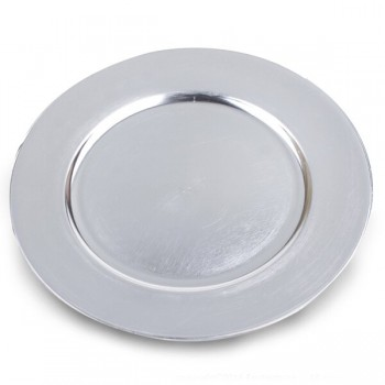 "12"" Silver Round Charger Plate"