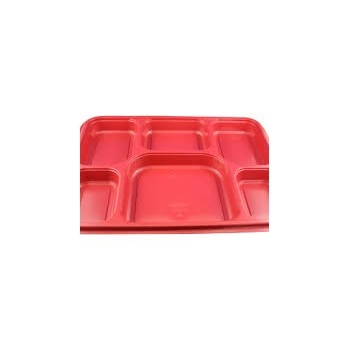 6 Compartment Plates Red...